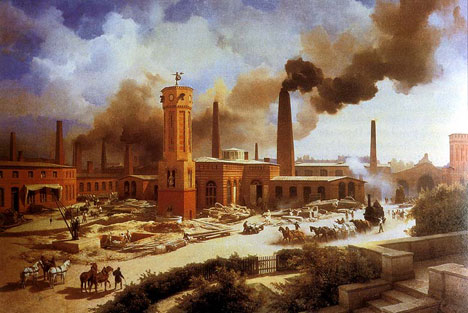 Industrial Revolution Painting by Gustave Courbet
